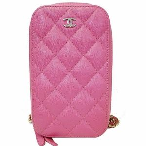 CHANEL Wallet On Chain WOC Caviar Leather Phone Ho
